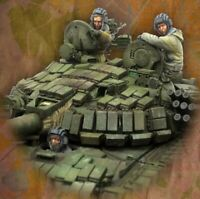 1/35 Resin Figure Model Kit Modern Soldiers Crew of the Russian T-72 Unpainted