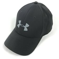 Under Armour UA Hat Men's Storm Headline Stretch Fit Gray On Gray Size M-L