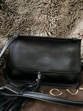 With Tags Gucci Black Leather Crossbody Bamboo Bag 370826