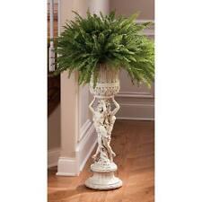 Les Filles Joyeuses Neoclassical Pedestal Urn French Maidens Flower Pot