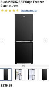 Bush M55152SB Fridge Freezer - Black RRP £239.99