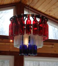 Unique Three Tier Bottle Chandelier Light Made in the USA, wine, wine bottle