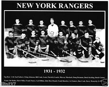 1931-1932 NEW YORK RANGERS STANLEY CUP  8X10 TEAM PHOTO
