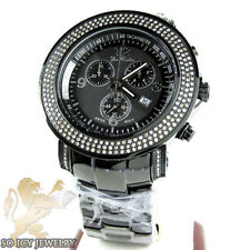 Mens Joe Rodeo Junior Black Steel PVD Diamond Watch 2.50 ct JJU303