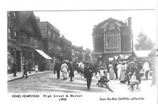HERTFORDSHIRE- HEMEL HEMPSTEAD REAL PHOTO.ANIMATED POSTCARD (A) c1905 (repro) UN