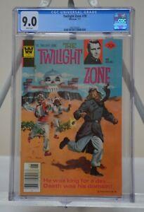 Twilight Zone 78 CGC 9.0 Whitman WP 1977 New Case