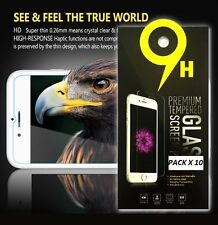 Lot of 10 x Tempered Glass Screen Protector for Apple iPhone Lg Samsung Motorola