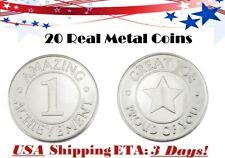 AttaCoin 20 Real Metal Kid Coins Parent Teacher Motivational School Teaching Aid