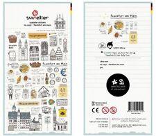 Alemania Frankfurt Transparente Scrapbook Diario álbum Decoración Pegatinas Scrapbook