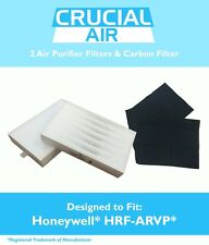 2 REPL Honeywell R Air Purifier Filters & 1 A Carbon Filter Kit Part # HRF-ARVP