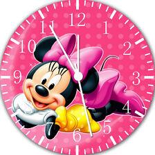 "Disney Minnie wall Clock 10"" will be nice Gift and Room wall Decor E123"
