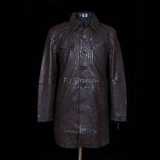 Cappotti e giacche da uomo lunga marrone in pelle