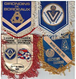 Exceptionnel LOT DE 15 Fanions Coupes des Girondins de Bordeaux dont RARES