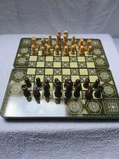 "Quality Chess/Backgammon Set MDF Wood Laminate Effect. FOLDABLE. 12"" x 12"""