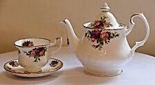 Royal Albert Old Country Roses ~ in miniatura decorative Teiera & Tazza & Piattino.