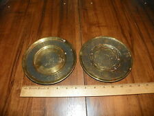 "Vintage Pair of Persian (Iran) Brass 6.5"" Plates"