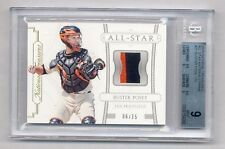 BUSTER POSEY 2015 NATIONAL TREASURES ALL-STAR PRIME PATCH 6/15 GIANTS BGS 9 MINT