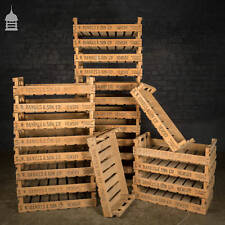 Vintage Wooden Chitting Crates Branded G. W. Daniels & Son Ltd