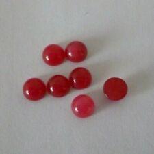 4 Stück Edelstein Cabochon weiße Jade Cerise halbrund Gr. 6x3-4mm