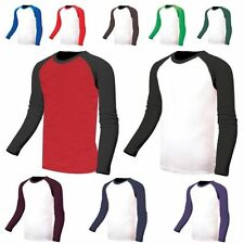 Cotton Basic Tee Baseball Solid T-Shirts for Men