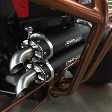 2014-2018 Polaris RZR XP 1000 Trinity Racing FULL Exhaust System Dual Black