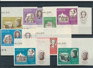 [G81385] Paraguay 1966 good set of stamps very fine MNH imperf $22