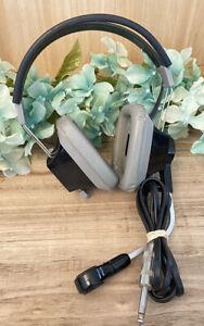 Vintage Telex 500 -01 Aviation Pilot Headset Headphone Microphone