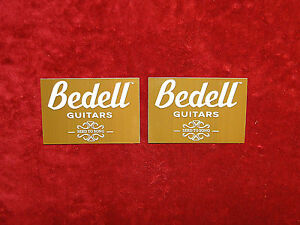 Bedell Guitars 2 Sticker Set<>ORIGINAL<>GENUINE