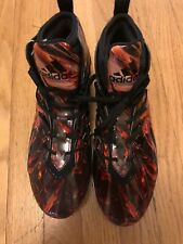 NEW ADIDAS FREAK X KEVLAR SZ 11 RED BLACK GOLD PRINT Football Cleats Shoes