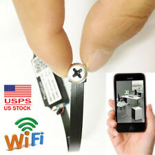 wireless network WIFI IP HD DIY mini screw Lens spy hidden Pinhole camera record