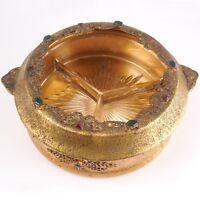 Gold Ormolu 14 Jeweled Vanity Tray / Box by SILVERCRAFT - FINE & RARE c.20s