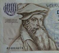 Belgie /Belgien Banknote 1000 Frank 1975 - Gerhard Mercator - vz = II erhalten