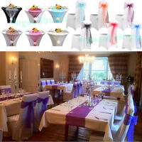ORGANZA Table Runner and Chair Sash Bow Wedding Anniversary Party Decoration