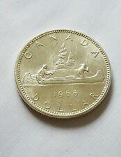 CANADA $1 DOLLAR 1966 ELIZABETH I I SILVER COIN (c)