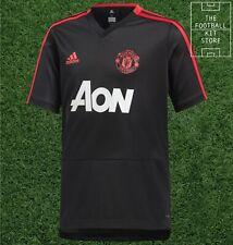 adidas Manchester United Training Top Kids Black - Man Utd - Youth - 7-8 Years