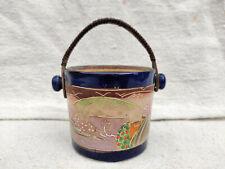 Antique Japonais Main Peint Porcelaine Glace Seau Décoratifs Collectables