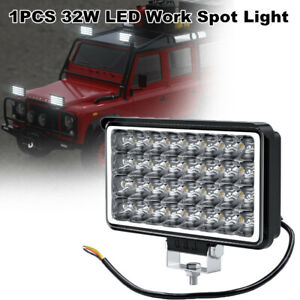 1PCS 32W LED Car Driving Work Spot Light Bar 6500K Fog Lamp Truck Off-road SUV