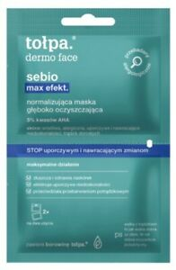 TOLPA DERMO FACE SEBIO MAX EFFECT NORMALIZING MASK DEEPLY CLEANSING