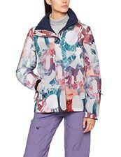 Roxy Jetty Femmes Veste Blouson de ski - Bright White Mountain Typo Medium