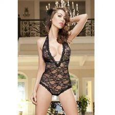 ladies black bedroom lingerie vest teddy sensual intimate underwear size regular