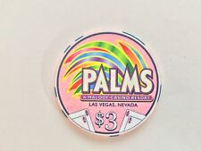 Palms Poker Room $3 Casino Chip - Mint