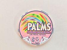 Palms Poker Room $3 Casino Chip - Mint
