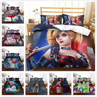 3D Suicide Squad Harley Quinn and Joker Duvet Cover Set Quilt Cover Pillowcase