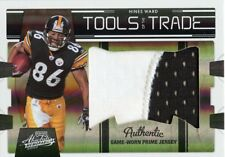 HINES WARD ( 2- COLOR ) 2009 ( HUGE ) JUMBO PRIME JERSEY CARD #05/50 STEELERS WR
