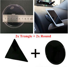 2x Round+Triangle Fixate Gel Pad Wall Stickers Anti-Slip Car Phone Mount Holder