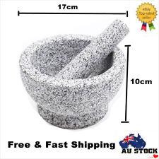 17cm Granite Mortar and Pestle Set Dishwasher Safe Mortar and Pestle Set