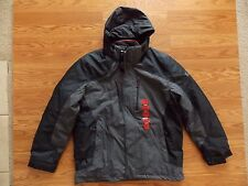 NWT Mens ZEROXPOSUR X-BLK Black Gray 3-in-1 Jacket Coat Size XL XLarge $200