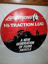 VINTAGE ADVERTISING ARMSTRONG HI TRACTION LUG FARM EQUIPTMENTSIGN