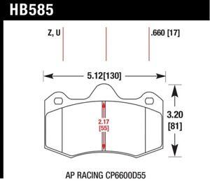 Hawk for 12-14 McLaren MP4-12C HPS 5.0 Front Brake Pads - hawkHB585B.660