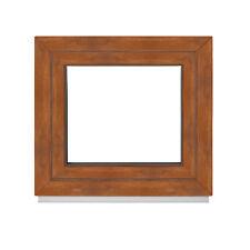 Kellerfenster Kunststofffenster Fenster 2 & 3 fach außen Golden Oak Premium